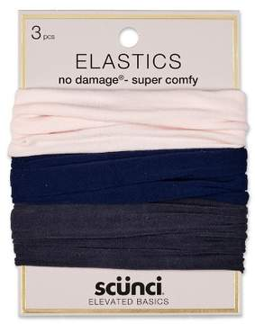 Scunci No Damage Soft Hosiery Elastics - 3pk