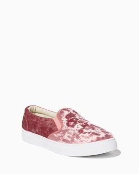 Charming charlie Lula Velvet Slip-On Sneakers