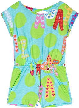 Agatha Ruiz De La Prada Blue And Green Multicolour Agatha Print Playsuit