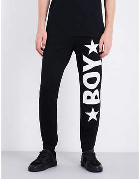 Boy London Logo-print cotton-jersey jogging bottoms