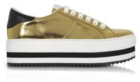 Marc Jacobs Women's Gold Leather Sneakers.