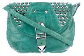 Rebecca Minkoff Studded Leather Crossbody Bag - GREEN - STYLE