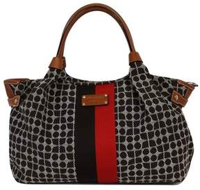 Kate Spade Brown Printed Canvas Leather Trim Bag - BROWN - STYLE