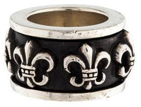 Chrome Hearts Fleur de Lis Band Ring
