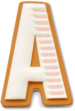 Fossil Letter A Sticker