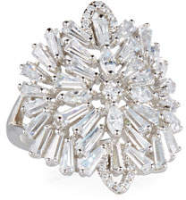Fallon Monarch Deco Medallion Ring, Size 7