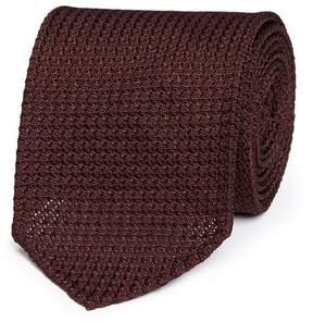 Drakes Drake ' S Textured woven silk tie