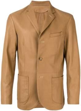 Lardini leather blazer