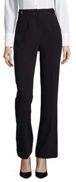 Ellen Tracy High-Waist Double Weave Trousers