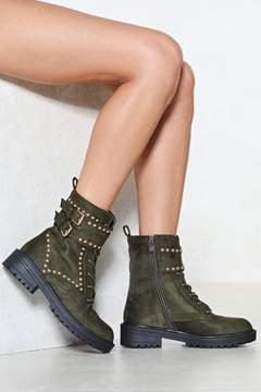 Nasty Gal Toughen Up Vegan Suede Boot