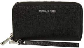 Michael Kors Mercer Large Zip Around Wallet - NERO/ARGENTO - STYLE