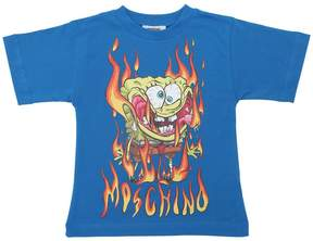 Moschino Spongebob Printed Cotton Jersey T-Shirt