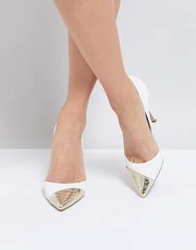 Miss KG Contast Toe Cap Point High Heels
