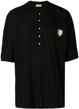 Ih Nom Uh Nit buttoned neck T-shirt