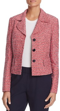 Basler Striped Tweed Cropped Jacket