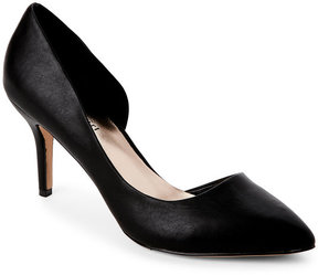 Madden-Girl Black Kopy Kat Pointed Toe d'Orsay Pumps