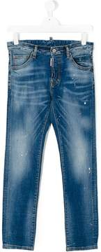 DSQUARED2 distressed stonewashed jeans