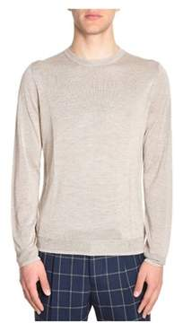 H953 Men's Beige Silk Sweater.