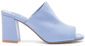 Maryam Nassir Zadeh Leather Penelope Mules in Blue.