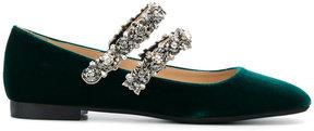 No.21 ornamental strapped ballerina shoes