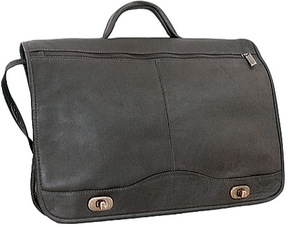 David King Leather 177 Full Flap Over Briefcase
