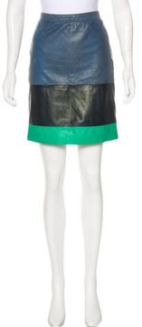 Boy By Band Of Outsiders Colorblock Leather Skirt