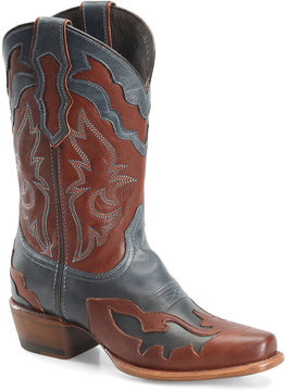 Sonora Brown & Blue Carla Leather Cowboy Boot