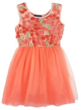 Andy & Evan Girls Floral Tulle Dress