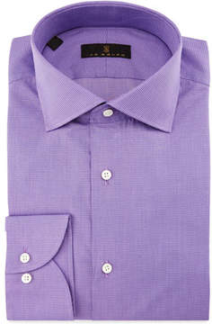 Ike Behar Gold Label Milano Mini-Houndstooth Dress Shirt, Lavender
