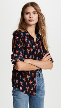 Anine Bing One Pocket Blouse
