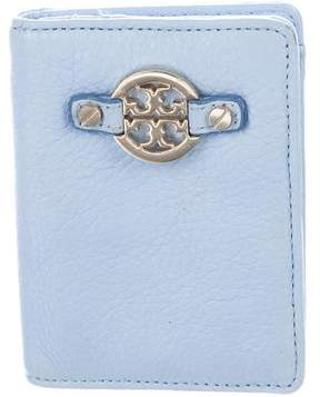 Tory Burch Grained Leather Card Holder - BLUE - STYLE