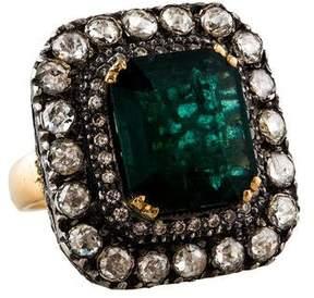 Amrapali Two-Tone Emerald & Diamond Cocktail Ring