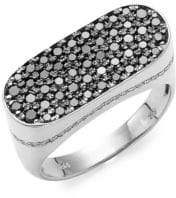 Effy Men's Sterling Silver & Diamond Band Ring
