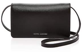 Marc Jacobs Wallet On Strap Tricolor Saffiano Leather Crossbody - BLACK - STYLE