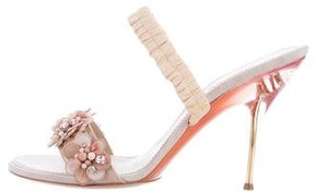 Nina Ricci Floral Slingback Sandals