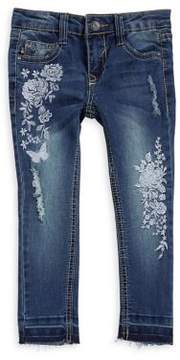 Vigoss Little Girl's Floral Skinny Ankle Jeans