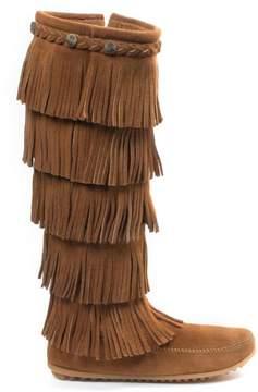 Minnetonka Suede -Layer Fringe Tall Boot
