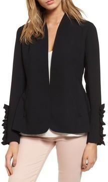 Chelsea28 Women's Ruffle Sleeve Blazer