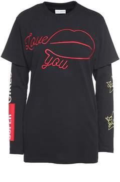 Chiara Ferragni Love You Cotton Double T-shirt
