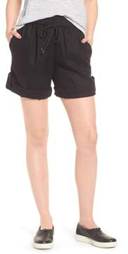 Eileen Fisher Rolled Organic Linen Shorts
