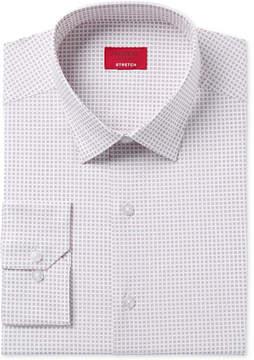 Alfani Men's Slim Fit Performance Stretch Square Dot Print Dress Shirt, Created for Macy's