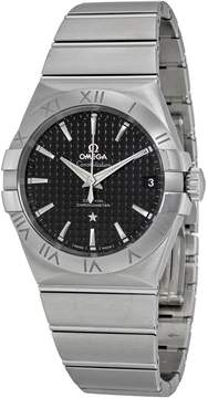Omega Constellation Black Dial Stainless Steel Men's Watch