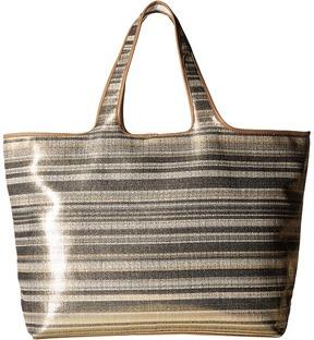 Echo Design - Metallic Stripe Hamptons Tote Tote Handbags