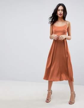 Asos Square Neck Cami Dress in Midi Length