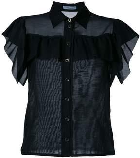 Blumarine ruffled fitted blouse