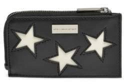 Stella McCartney Stars Leather Cardholder