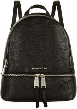 Michael Kors Rhea Zip Backpack - BLACK - STYLE