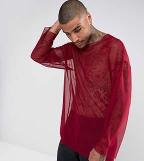Reclaimed Vintage Inspired Oversized Long Sleeve T-Shirt In Mesh
