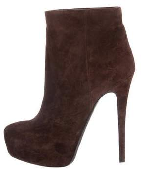 Ballin Classic Suede Platform Ankle Boots