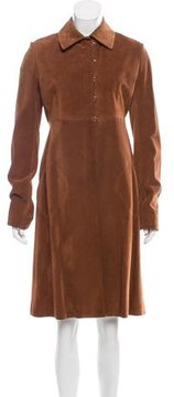 Alaia Suede Knee-Length Coat